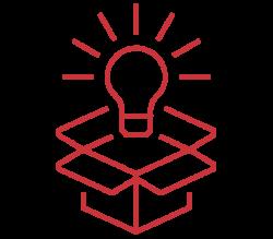 Open box with light bulb - Define