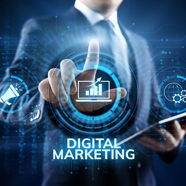 conceptual image of digital marketing